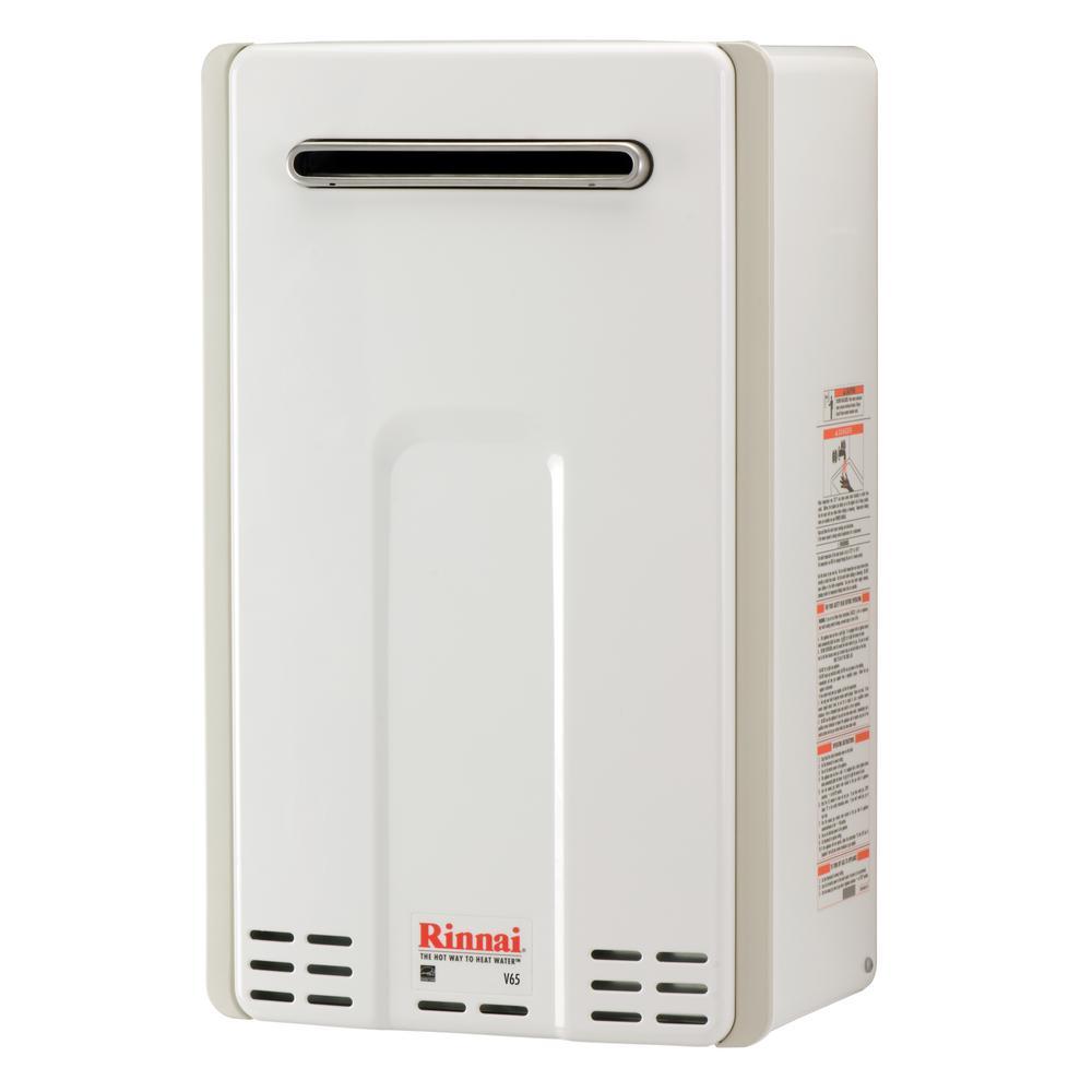 Rinnai High Efficiency 6 5 Gpm Residential 150 000 Btu H 44 0 Kwh Propane Exterior Tankless Water