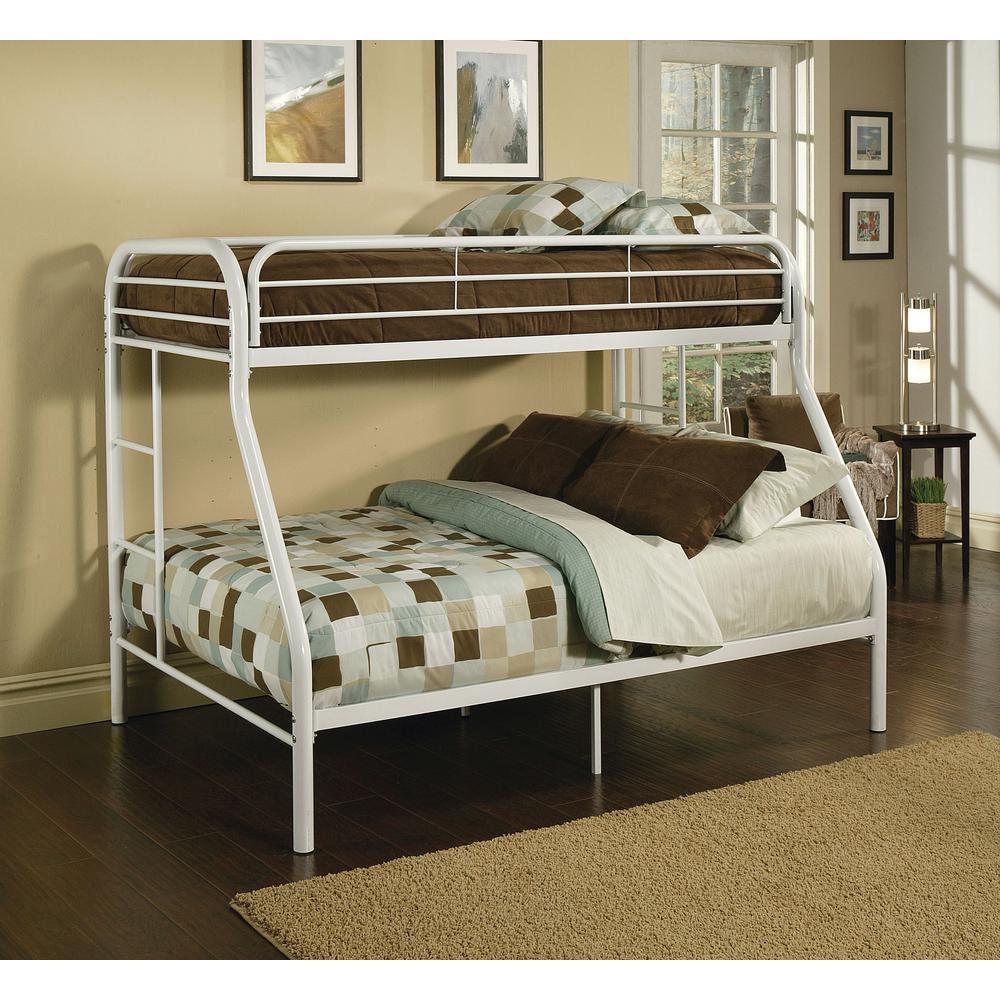 ACME Furniture Tritan Twin Over Full Metal Kids Bunk Bed 02053WH