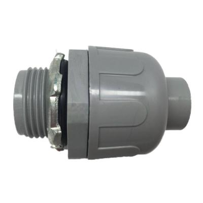 (100-Pack) 3/4 in. Dia Liquid Tight Non Metallic Electrical PVC Conduit Straight Fitting Connector