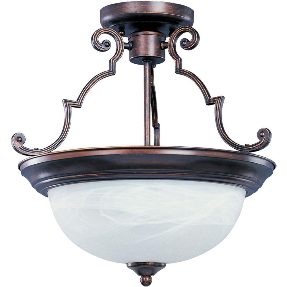 Maxim Lighting Essentials 3 Light Oil Rubbed Bronze Semi Flush Mount