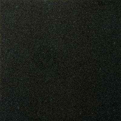 Granite Absolute Black Polished 12.01 in. x 12.01 in. Granite Floor and Wall Tile