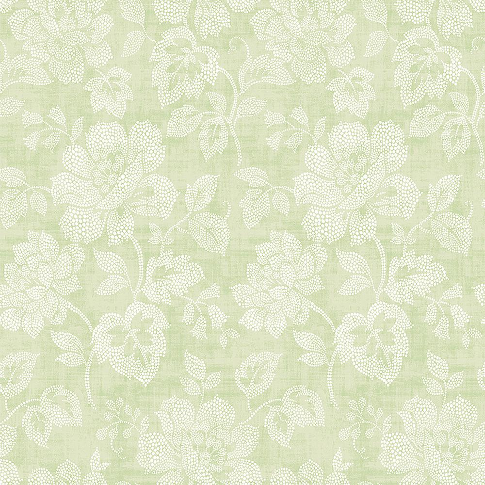 A Street Tivoli Sage Floral Wallpaper 2702 22734 The Home Depot
