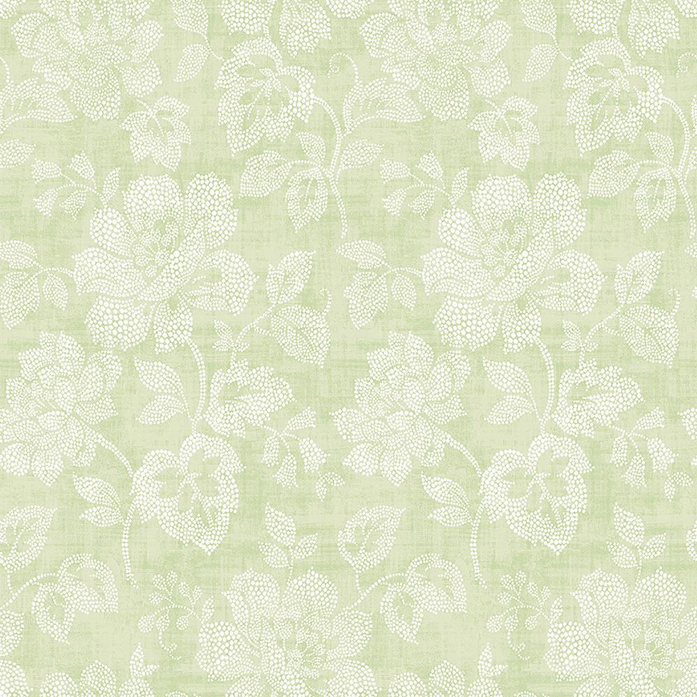 A-Street Tivoli Sage Floral Wallpaper-2702-22734 - The ...