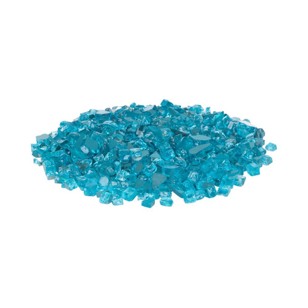 Bahama Blue Reflective Fire Glass