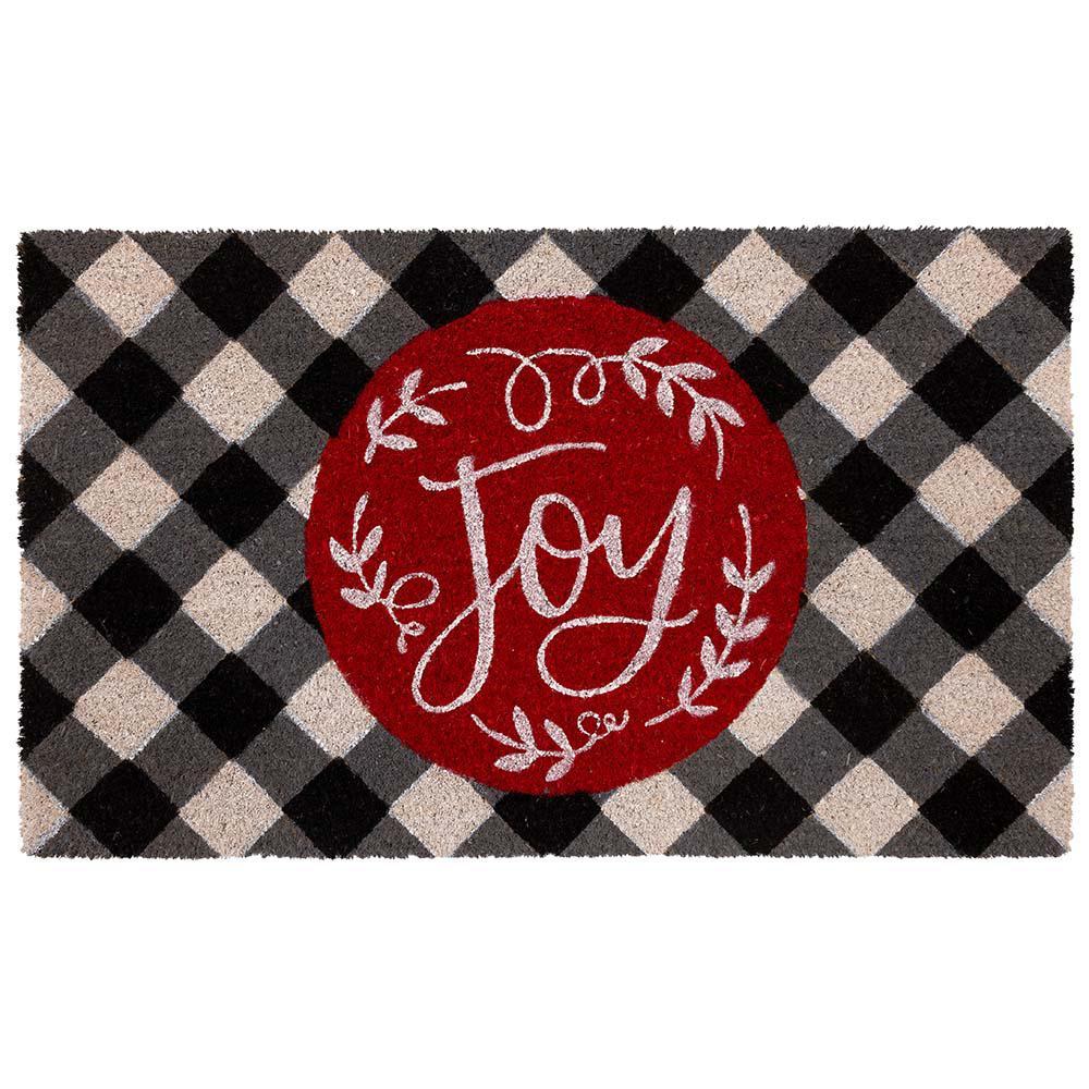 Country Christmas Joy Coir 18 in. x 30 in. Holiday Door Mat