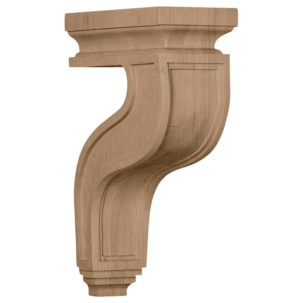 4 in. x 8-1/2 in. x 13 in. Maple Hollow Back
