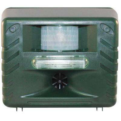 Yard Sentinel Strobe, Ultimate Ultrasonic Nighttime Animal Pest Repeller with Strobe Light
