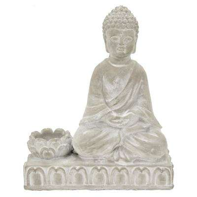 10 in. Buddha With Candle Holder