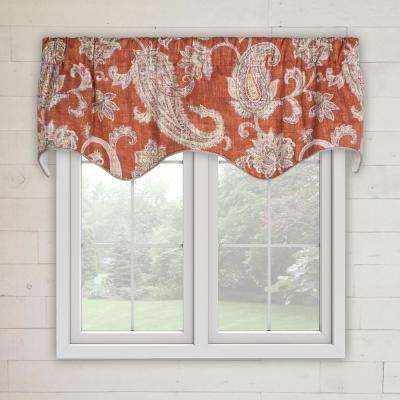 Malang 15 in. L Cotton LIned Scallop Valance in Ruby