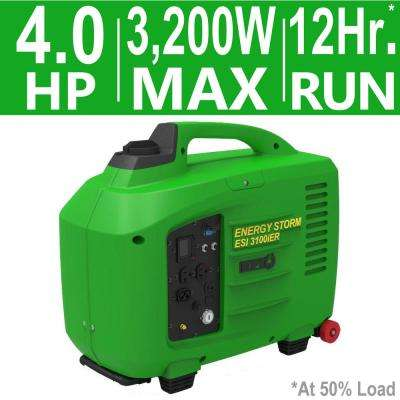 Energy Storm 3,200/3,100-Watt Gas Powered Electric/Remote Start Portable Inverter Generator (Electric Fuel Injected)