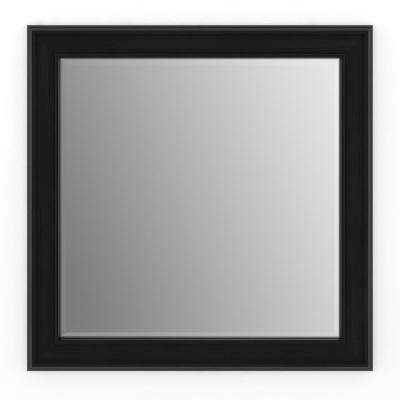 33 in. x 33 in. (L2) Square Framed Mirror with Deluxe Glass and Flush Mount Hardware in Matte Black