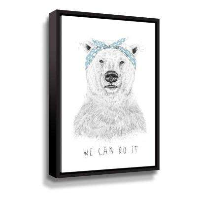 'We can do it' by  Balazs Solti Framed Canvas Wall Art