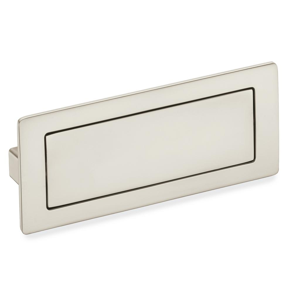 Center To Satin Nickel Covered Flush Cabinet Pull