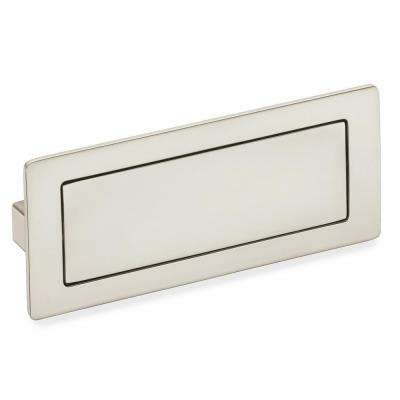 Exceptional Satin Nickel Covered Flush Cabinet Pull