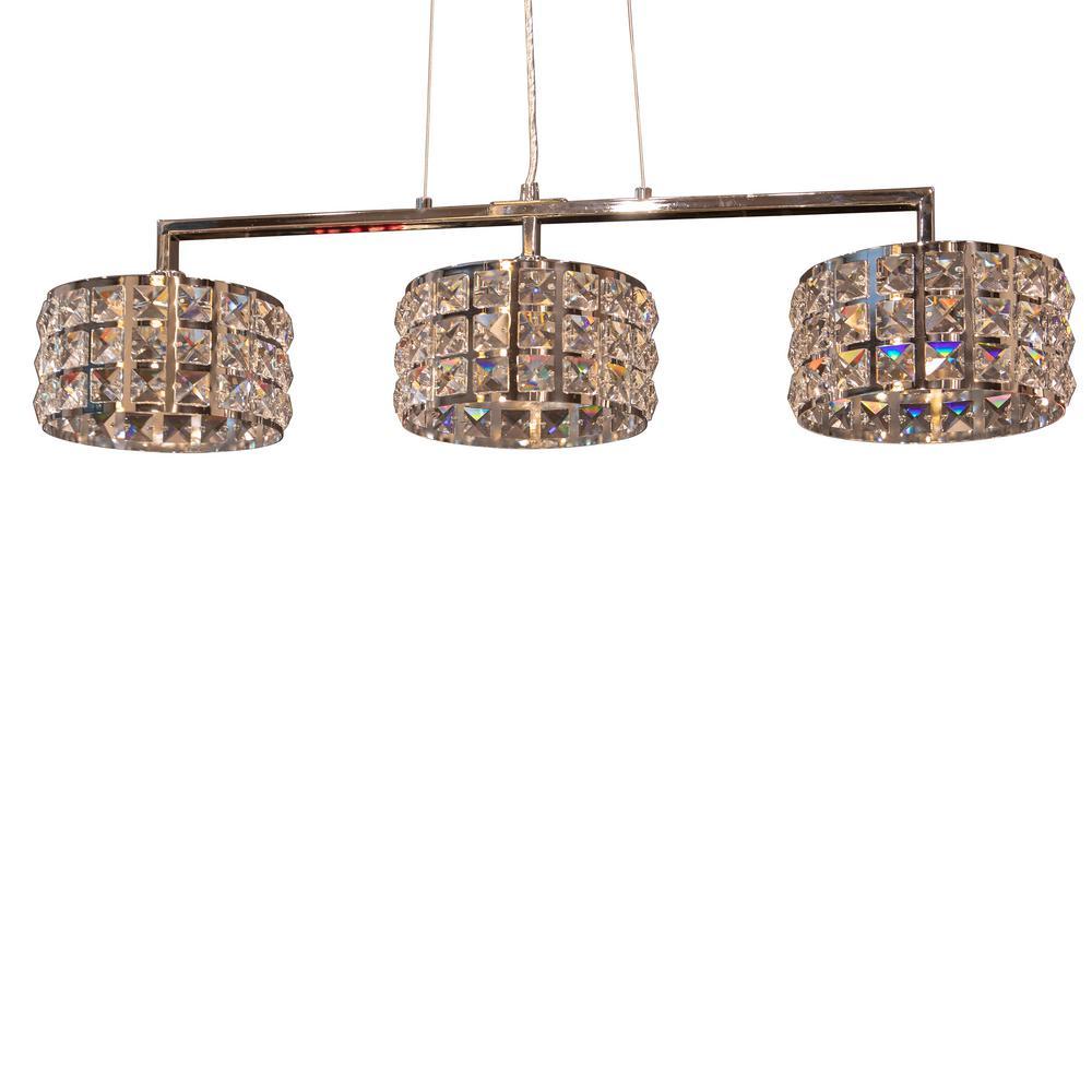Cosette 3-Light Chrome Pendant