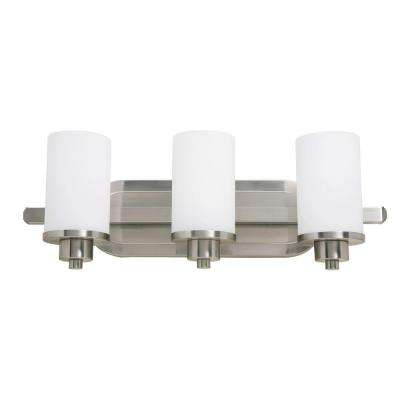Parkdale 3-Light Polished Nickel Bath Vanity Light