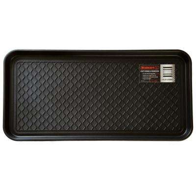 Black 15 in. x 30 in. Eco-Friendly Polypropylene Utility Boot Tray Mat