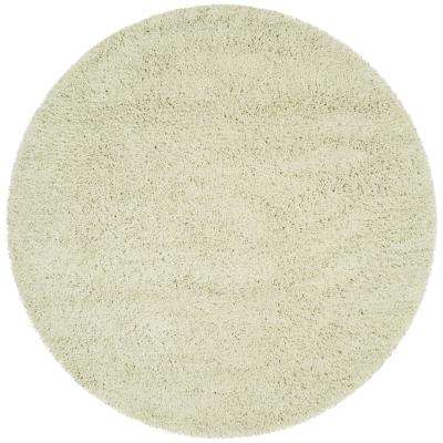 Classic Shag Lime 6 ft. x 6 ft. Round Area Rug