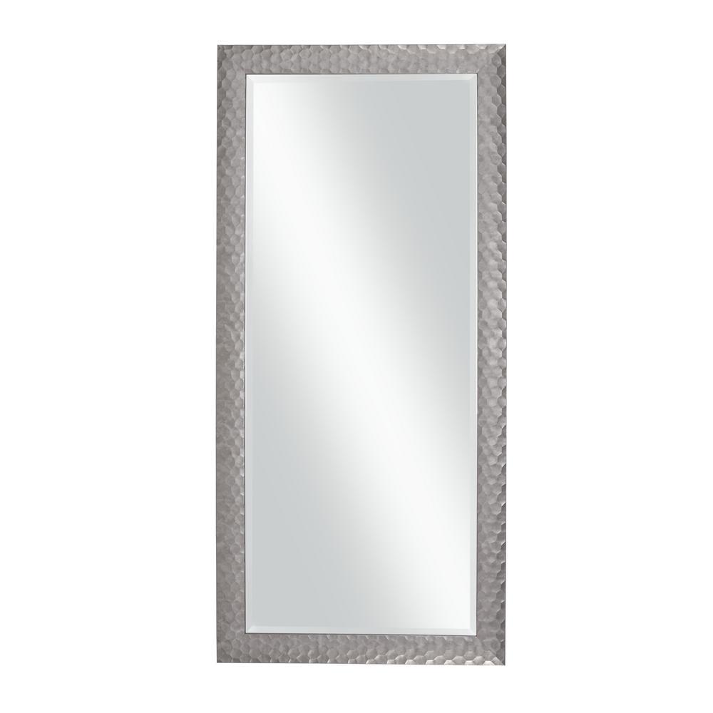 Glam Full Length Leaner Mirror, Metallic Pewter
