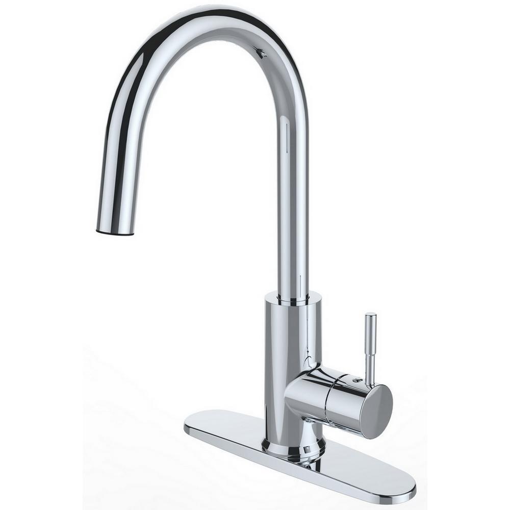 runfine single-handle pull-down sprayer kitchen faucet in