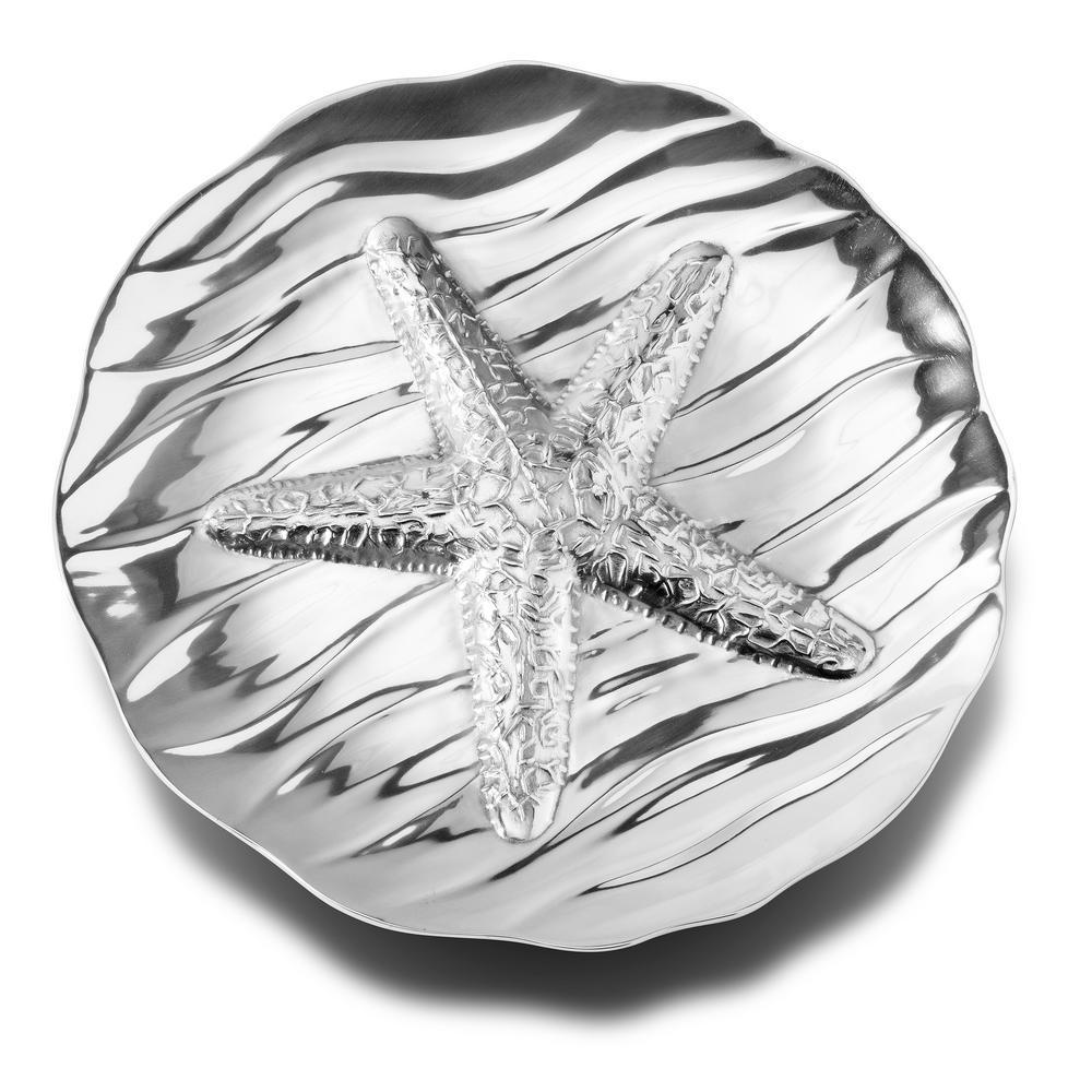 Large Starfish Round Tray