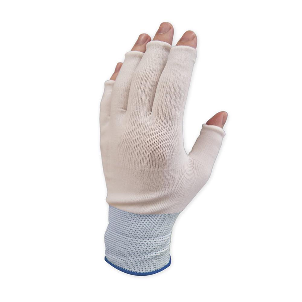 Half Finger Large Nylon Work Gloves (15-Pack)