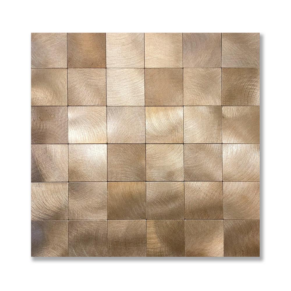 10 sq ft Copper Backsplash Metal Mosaic Tiles 3D Peel and Stick Wall Panels SALE