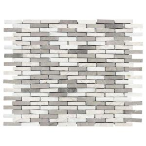 Whispering Cliffs 11.125 in. x 12.25 in. Interlocking Mixed Limestone and Marble Mosaic Tile (0.946 sq. ft./Each)