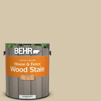 1 gal. #YL-W11 Khaki Shade Solid House and Fence Wood Stain