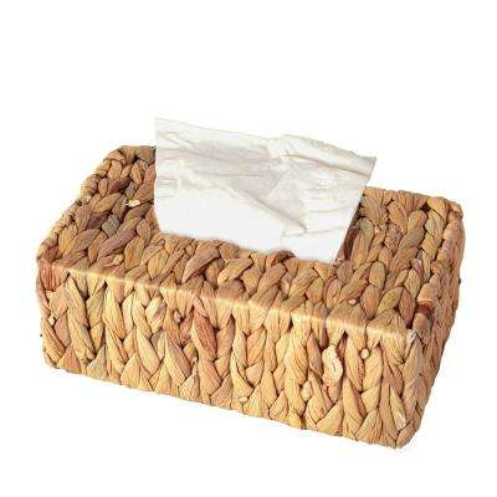 Water Hyacinth Wicker Rectangular Tissue Box Cover