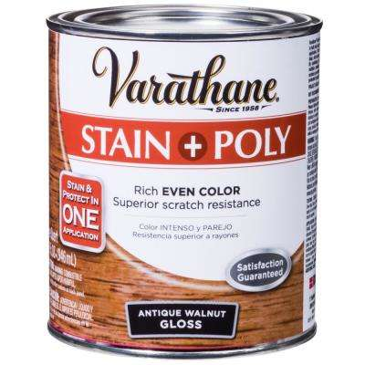 1-qt. Antique Walnut Gloss Water-Based Interior Stain and Polyurethane (2-Pack)