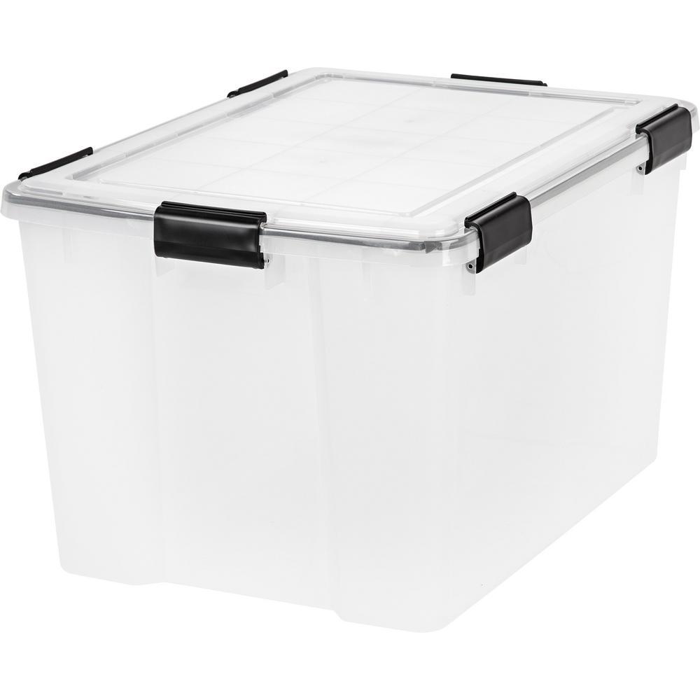 IRIS 74 Qt. Weather Tight Storage Box in Clear