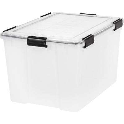 74 Qt. Weathertight Storage Box in Clear