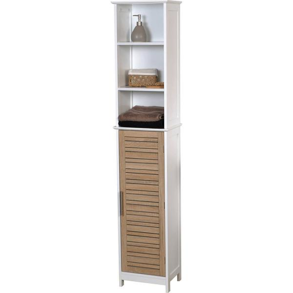 Stockholm 13.80 in. L x 10.30 in. W x 68 in. H Free standing Linen Tower Cabinet Brown
