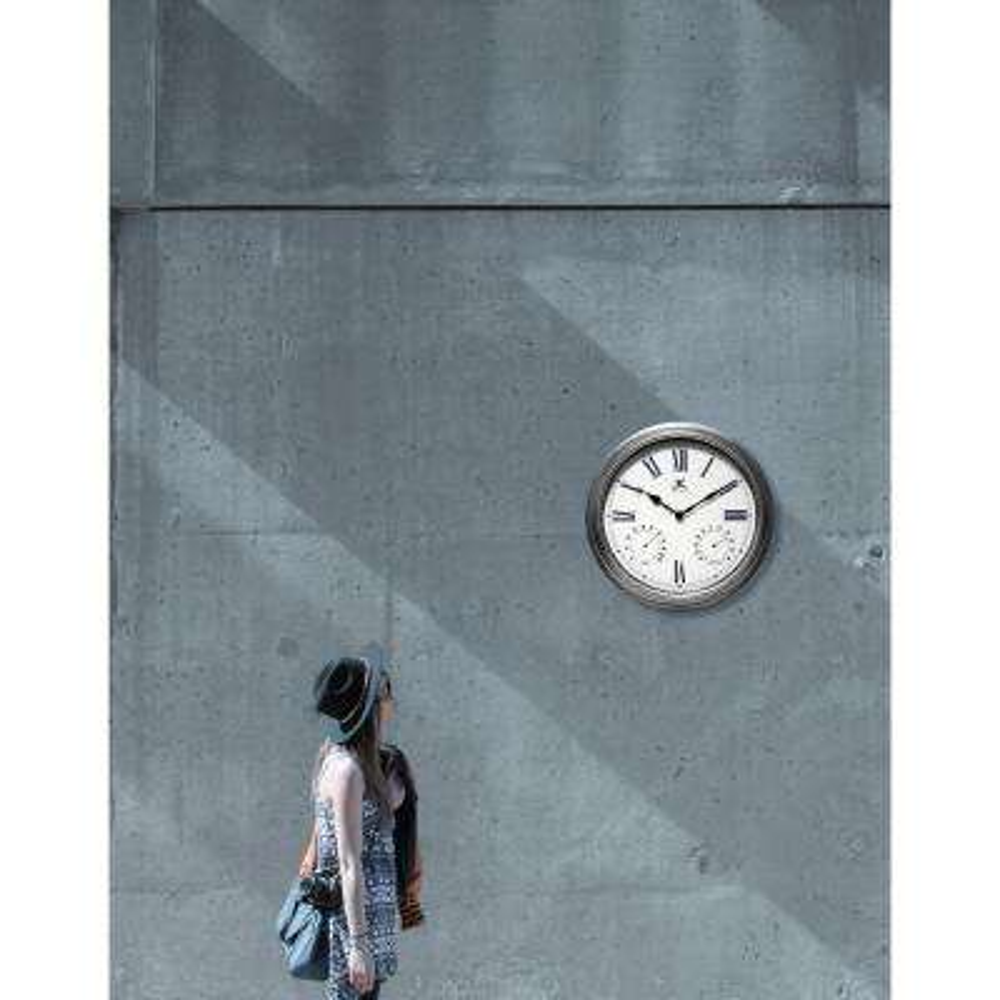 Rustic 16 in. W x 16 in. L Outdoor Wall Clock