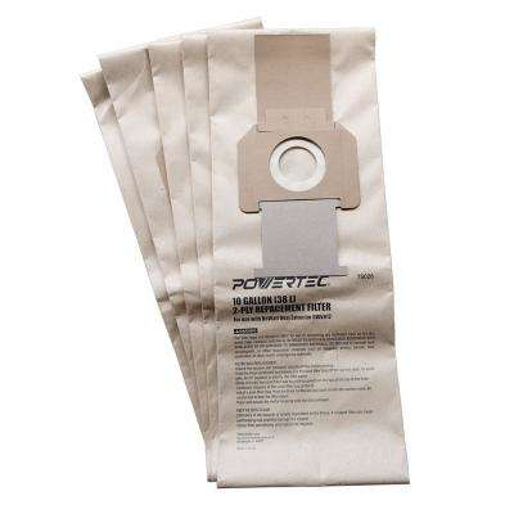 10 Gal. High Efficiency Filter Bags for DeWalt DWV012 Dust Extractors (5-Pack)