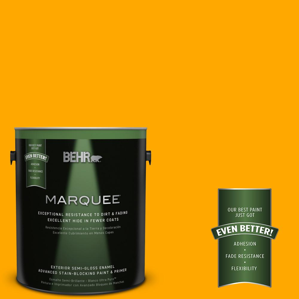 BEHR MARQUEE 1-gal. #S-G-330 Instant Delight Semi-Gloss Enamel Exterior Paint