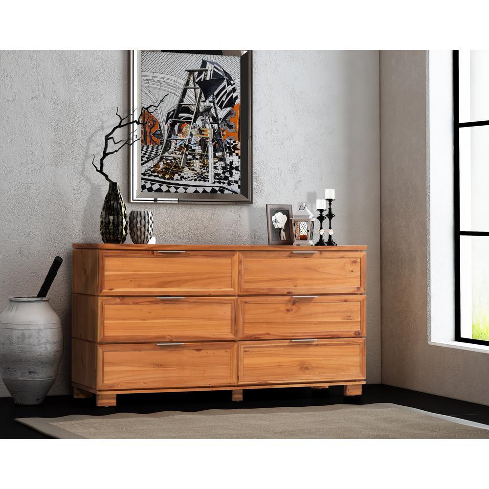 Taxco 6-Drawer Butterscotch Dresser