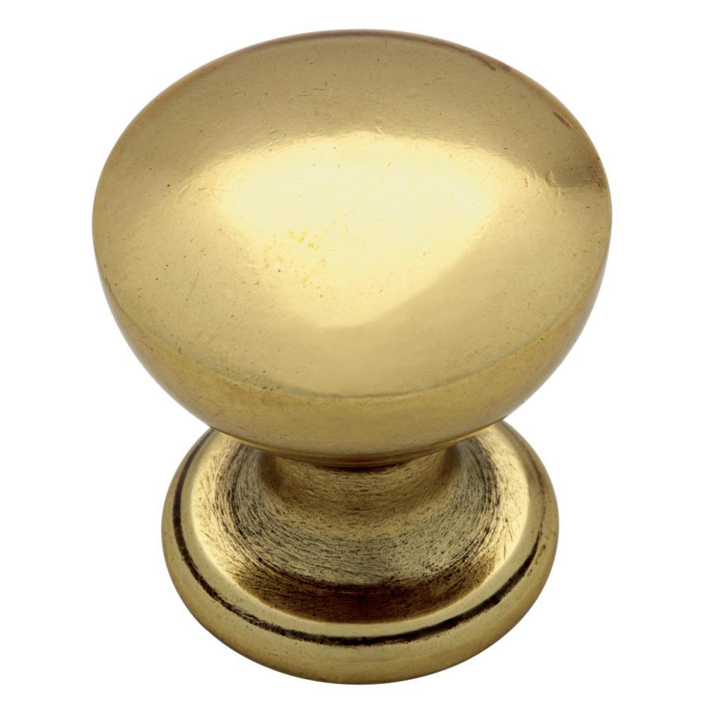 Goblet 1 in. (25 mm) Bedford Brass Cabinet Knob (12-Pack)