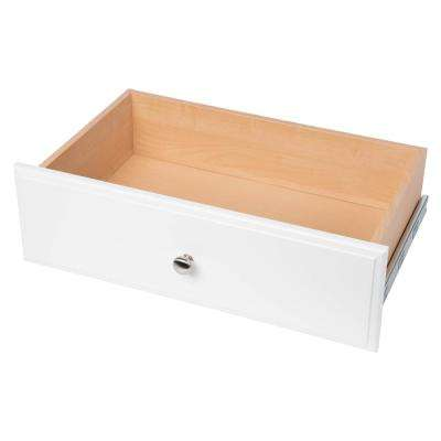 24 in. x 8 in. Classic White Wood Deluxe Drawer