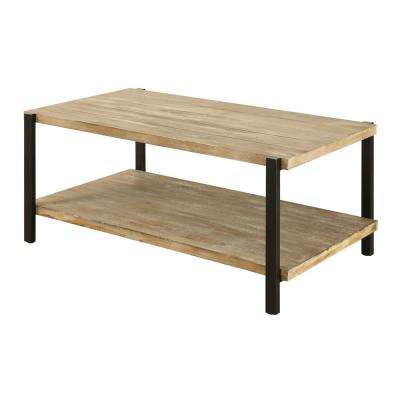 Wyoming Natural Fir and Black Coffee Table