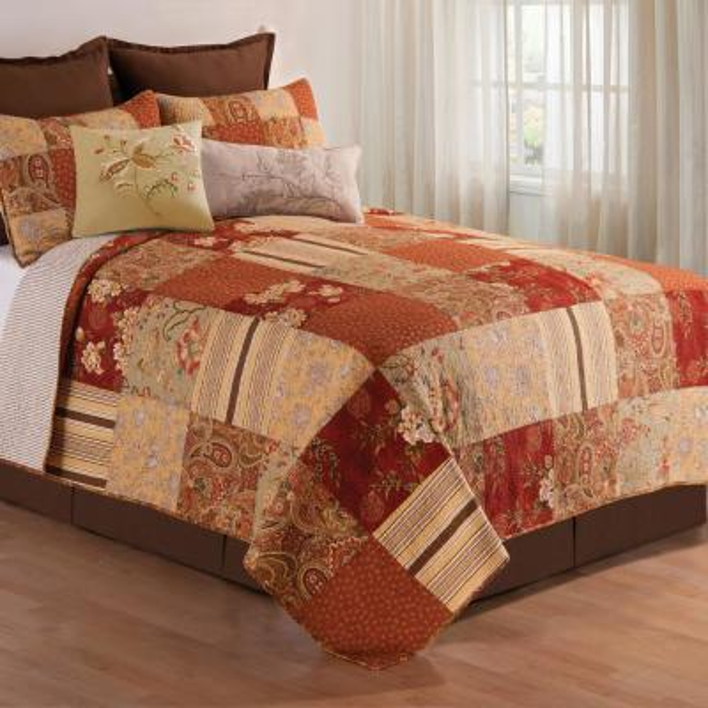 Orange Amber Twin Quilt Set