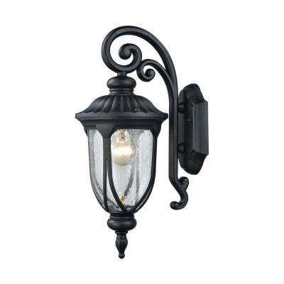 Derry Hill 1-Light Matte Black Outdoor Wall Sconce