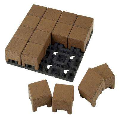 4 in. x 4 in. Boardwalk Composite Standard Pavers Grid System (16 Pavers and 1 Grid)