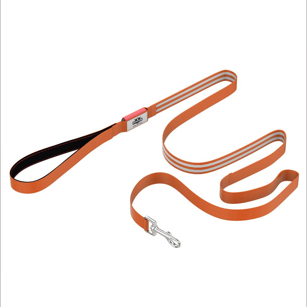 6 ft. Orange LED Dog Leash