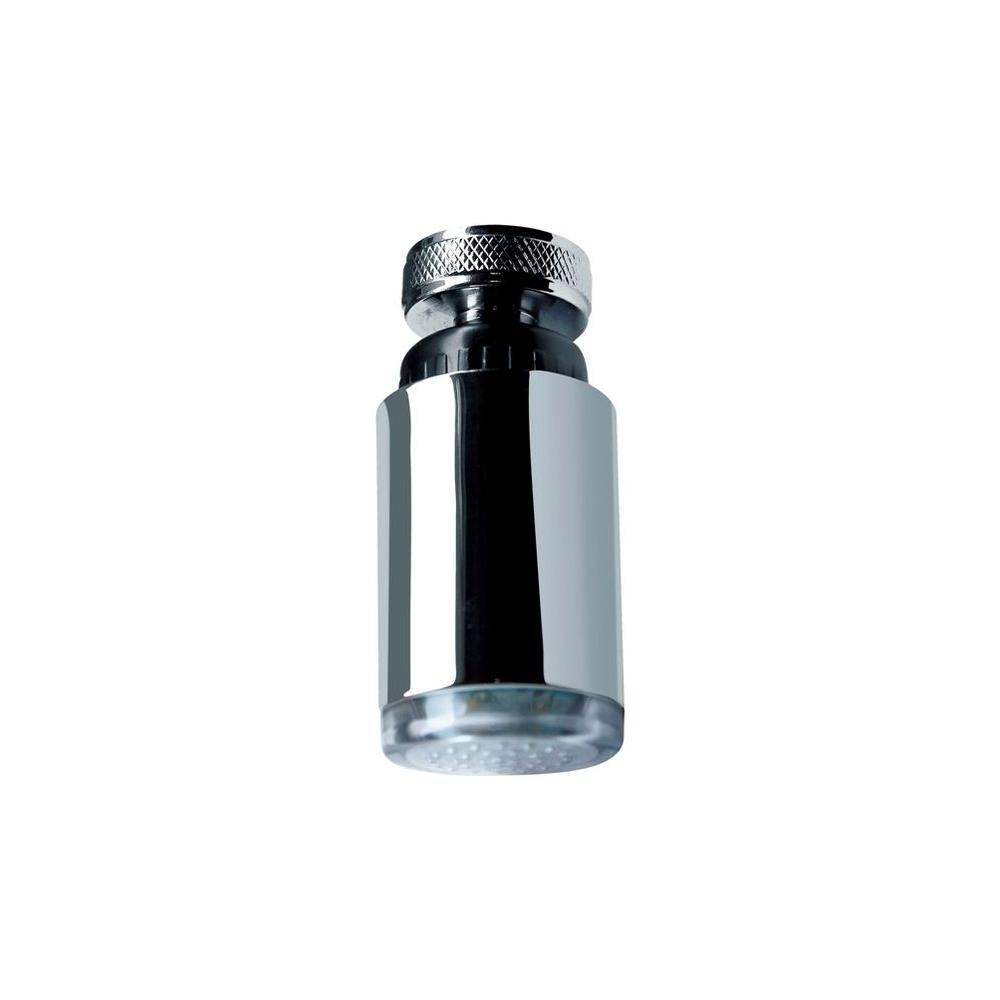 LDR Industries LED Swivel Aerator Hot/Cold With Faucet Adapter In Chrome