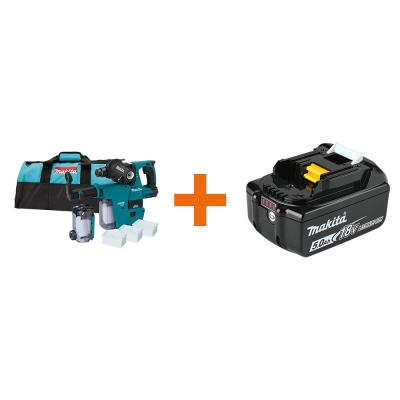 18-Volt LXT Li-Ion 1 in. Brushless SDS-Plus Rotary Hammer w/HEPA Attachment with Bonus 18-Volt LXT Battery Pack 5.0Ah