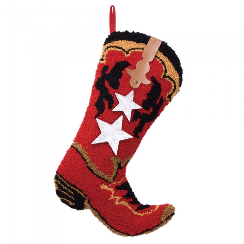 20.69 in. H Hooked Stocking Red Boot