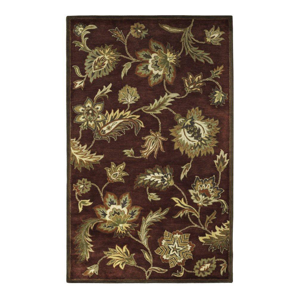 Home Decorators Collection Colonnade Burgundy 4 ft. x 6 ft. Area Rug