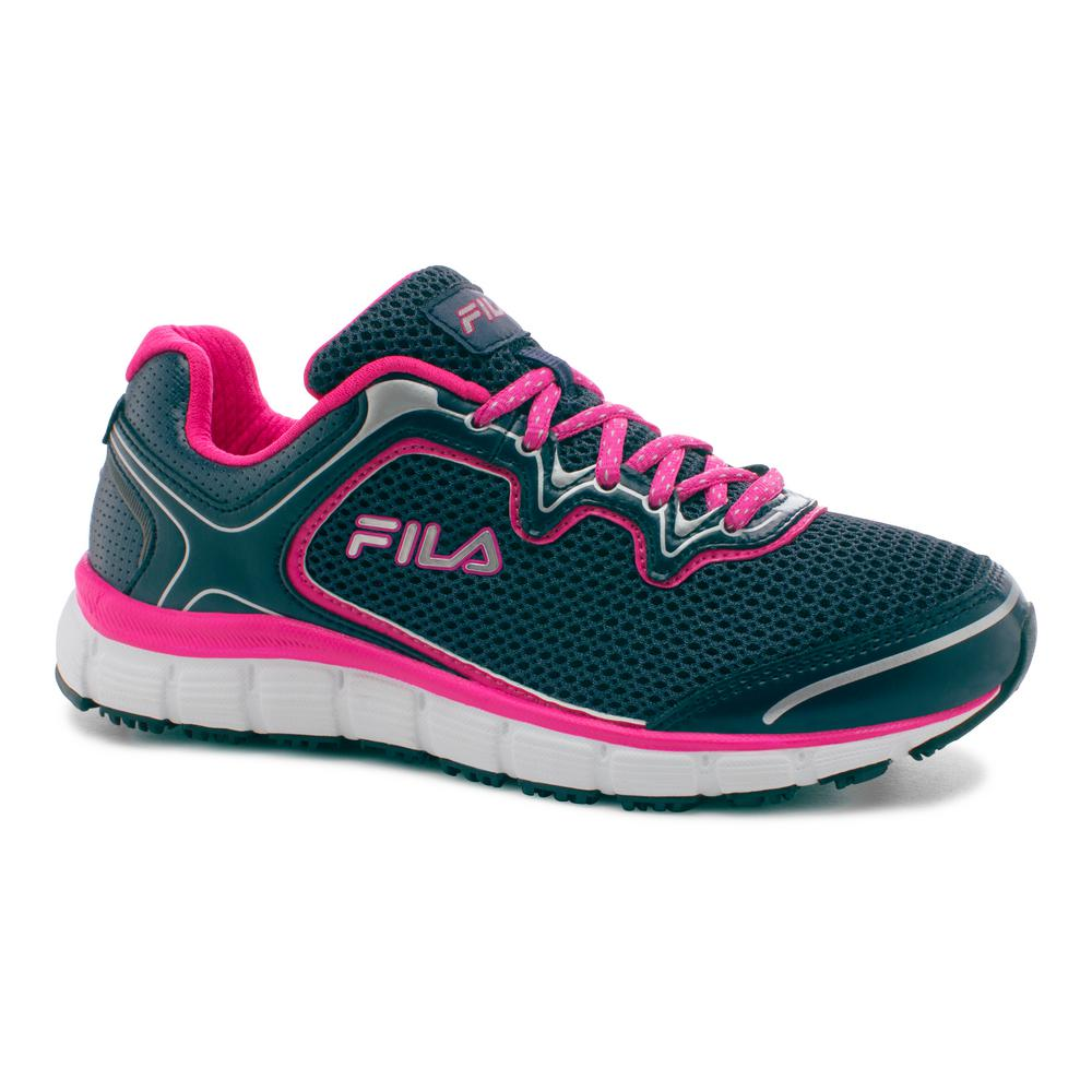 Memory Fresh Start Women Size 7 Fila Navy/Pink Glo Leathe...